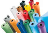 Rolls of clear and coloured PVC