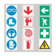 Symbolic safety signs